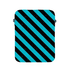 Stripes3 Black Marble & Turquoise Colored Pencil Apple Ipad 2/3/4 Protective Soft Cases by trendistuff
