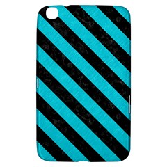 Stripes3 Black Marble & Turquoise Colored Pencil Samsung Galaxy Tab 3 (8 ) T3100 Hardshell Case  by trendistuff