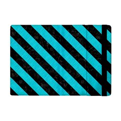Stripes3 Black Marble & Turquoise Colored Pencil Ipad Mini 2 Flip Cases by trendistuff