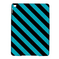 Stripes3 Black Marble & Turquoise Colored Pencil Ipad Air 2 Hardshell Cases by trendistuff
