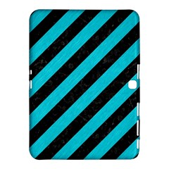Stripes3 Black Marble & Turquoise Colored Pencil (r) Samsung Galaxy Tab 4 (10 1 ) Hardshell Case  by trendistuff
