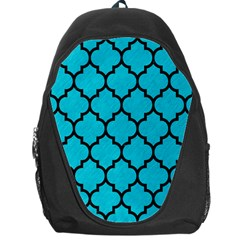 Tile1 Black Marble & Turquoise Colored Pencil Backpack Bag by trendistuff