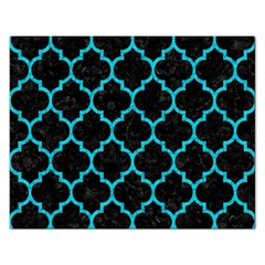 Tile1 Black Marble & Turquoise Colored Pencil (r) Rectangular Jigsaw Puzzl by trendistuff