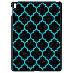 Tile1 Black Marble & Turquoise Colored Pencil (r) Apple Ipad Pro 9 7   Black Seamless Case