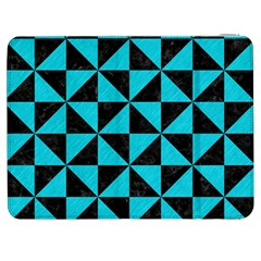 Triangle1 Black Marble & Turquoise Colored Pencil Samsung Galaxy Tab 7  P1000 Flip Case by trendistuff