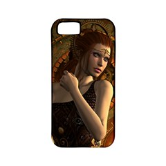 Wonderful Steampunk Women With Clocks And Gears Apple Iphone 5 Classic Hardshell Case (pc+silicone) by FantasyWorld7