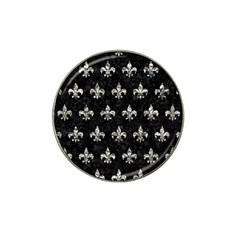 Royal1 Black Marble & Silver Foil Hat Clip Ball Marker (10 Pack) by trendistuff