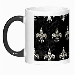 Royal1 Black Marble & Silver Foil Morph Mugs by trendistuff