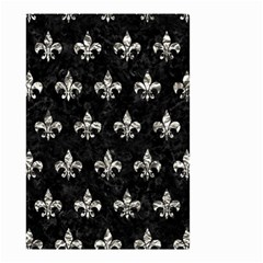 Royal1 Black Marble & Silver Foil Small Garden Flag (two Sides) by trendistuff