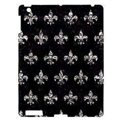 Royal1 Black Marble & Silver Foil Apple Ipad 3/4 Hardshell Case by trendistuff