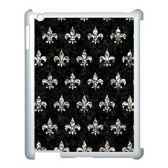 Royal1 Black Marble & Silver Foil Apple Ipad 3/4 Case (white) by trendistuff