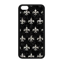 Royal1 Black Marble & Silver Foil Apple Iphone 5c Seamless Case (black) by trendistuff