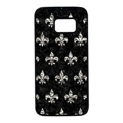 Royal1 Black Marble & Silver Foil Samsung Galaxy S7 Black Seamless Case by trendistuff