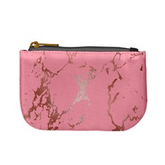 Luxurious Pink Marble Mini Coin Purses by tarastyle