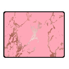 Luxurious Pink Marble Fleece Blanket (small) by tarastyle