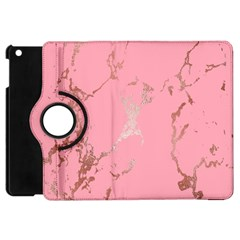 Luxurious Pink Marble Apple Ipad Mini Flip 360 Case by tarastyle