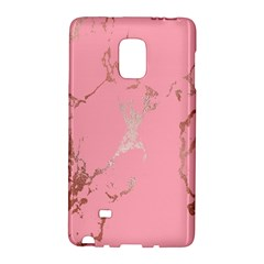 Luxurious Pink Marble Galaxy Note Edge by tarastyle