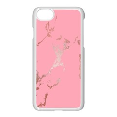 Luxurious Pink Marble Apple Iphone 8 Seamless Case (white)