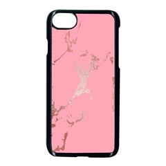 Luxurious Pink Marble Apple Iphone 8 Seamless Case (black) by tarastyle