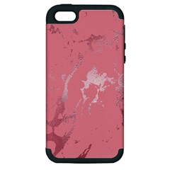 Luxurious Pink Marble Apple Iphone 5 Hardshell Case (pc+silicone) by tarastyle