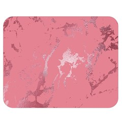 Luxurious Pink Marble Double Sided Flano Blanket (medium)  by tarastyle