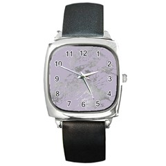 Luxurious Pink Marble Square Metal Watch by tarastyle