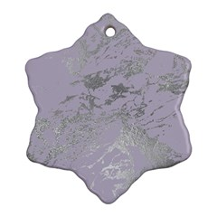 Luxurious Pink Marble Ornament (snowflake) by tarastyle