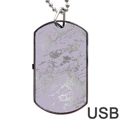 Luxurious Pink Marble Dog Tag Usb Flash (two Sides) by tarastyle