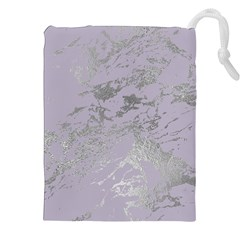 Luxurious Pink Marble Drawstring Pouches (xxl) by tarastyle