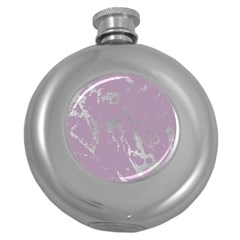 Luxurious Pink Marble Round Hip Flask (5 Oz) by tarastyle