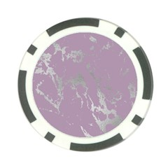 Luxurious Pink Marble Poker Chip Card Guard by tarastyle