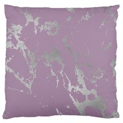 Luxurious Pink Marble Large Cushion Case (one Side) by tarastyle