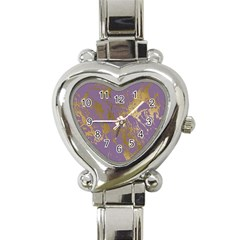 Luxurious Pink Marble Heart Italian Charm Watch by tarastyle