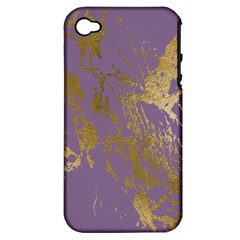 Luxurious Pink Marble Apple Iphone 4/4s Hardshell Case (pc+silicone) by tarastyle