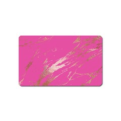 Luxurious Pink Marble Magnet (name Card) by tarastyle