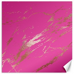Luxurious Pink Marble Canvas 12  X 12   by tarastyle