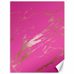 Luxurious Pink Marble Canvas 36  X 48   by tarastyle