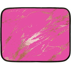 Luxurious Pink Marble Double Sided Fleece Blanket (mini)  by tarastyle