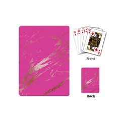 Luxurious Pink Marble Playing Cards (mini)  by tarastyle