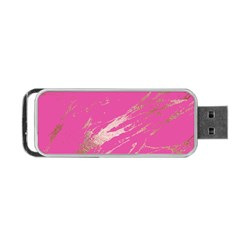 Luxurious Pink Marble Portable Usb Flash (two Sides) by tarastyle