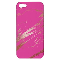 Luxurious Pink Marble Apple Iphone 5 Hardshell Case by tarastyle