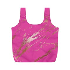 Luxurious Pink Marble Full Print Recycle Bags (m)  by tarastyle