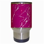 Luxurious Pink Marble Travel Mugs (White) Center
