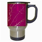 Luxurious Pink Marble Travel Mugs (White) Right
