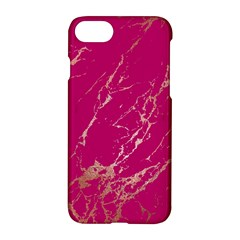 Luxurious Pink Marble Apple Iphone 8 Hardshell Case