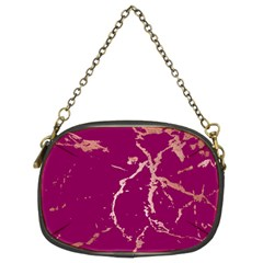 Luxurious Pink Marble Chain Purses (two Sides)  by tarastyle