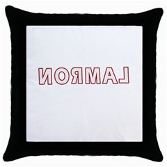 Normal Throw Pillow Case (black) by Valentinaart