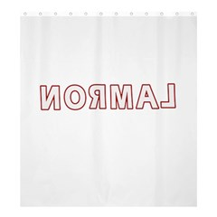 Normal Shower Curtain 66  X 72  (large)  by Valentinaart