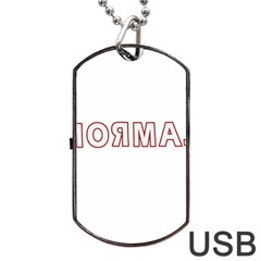 Normal Dog Tag Usb Flash (two Sides) by Valentinaart
