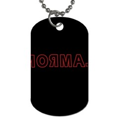 Normal Dog Tag (one Side)
